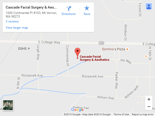 Cascade Facial Surgery and Aesthetics Location Map